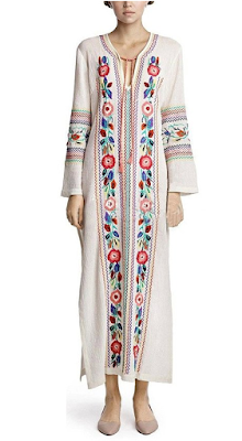 Embroidered bohemian hippie dress - $35.98 Affordable Springtime Bohemian Fashion {Pastel Bohemian, Springtime Boho Fashion and Accessories, Bohemian Easter}