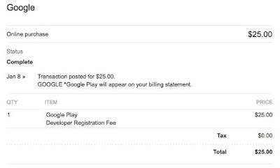 Bukti Pembayaran di Google Developers Play Store