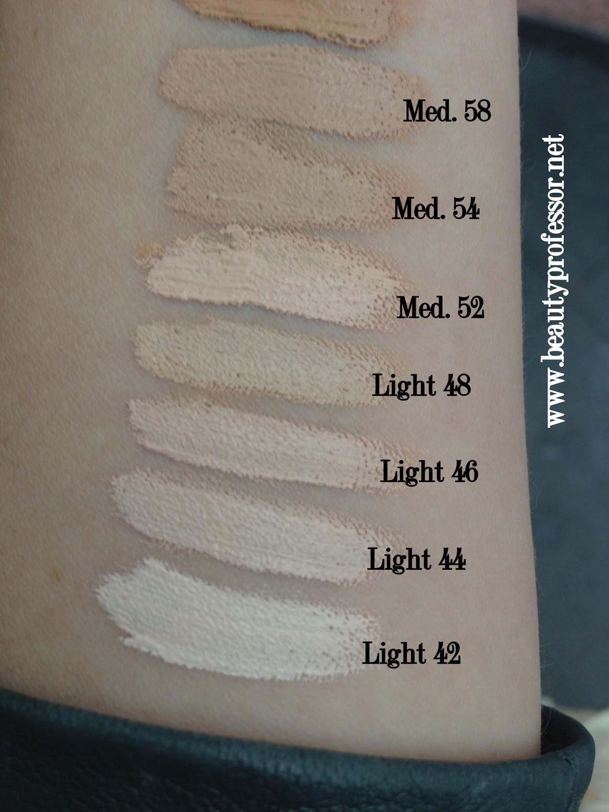 e25510765 Kat Von D Lock It Tattoo Foundation...Swatches of All Shades ...