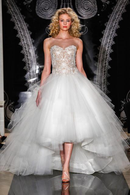 vestidos de novia sencillos con encaje cortos