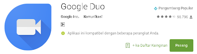 Unduh Aplikasi Video Call Google Duo