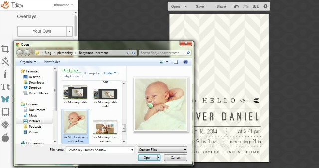 Birth Announcement Design Ideas // free with PicMonkey