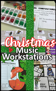 Christmas Music Workstations that are fun, engaging and easy on you are discussed in this blog post.  Puzzles, dabbers, snowballs and ice cube trays can all become awesome centers for the students in your music classroom.