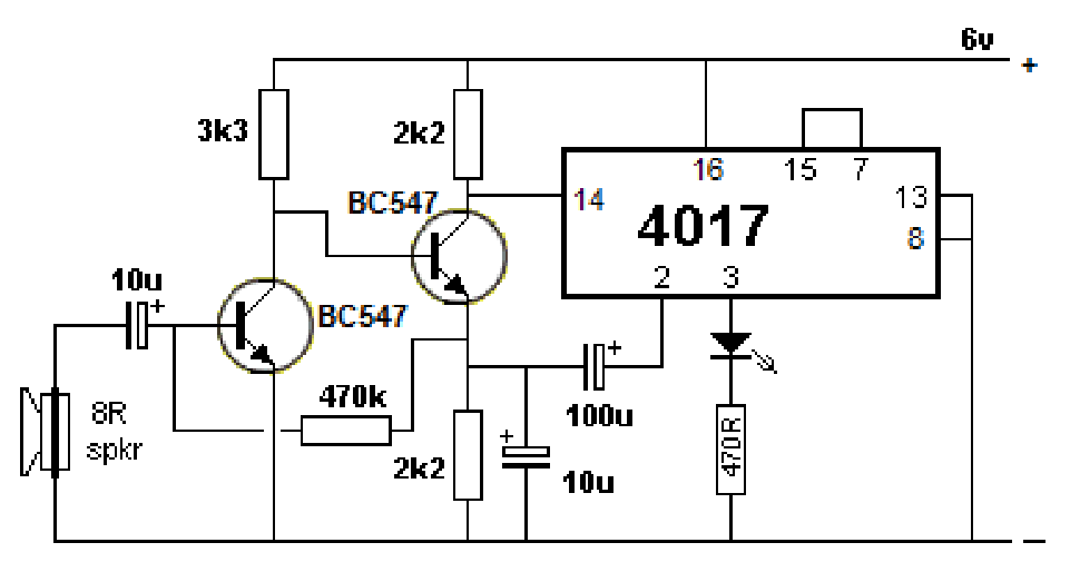 4017 circuits projects