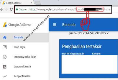 Mengetahui ID Penayang Adsense di TaskBar