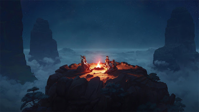 Sky Campfire Wallpaper Engine