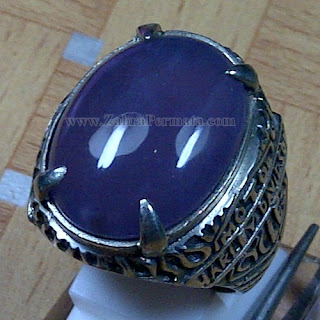 Cincin Batu Lavender Baturaja - Z_ 1016