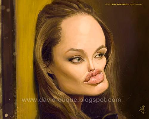 "Caricatura de ""Angelina Jolie"" por David Duque"