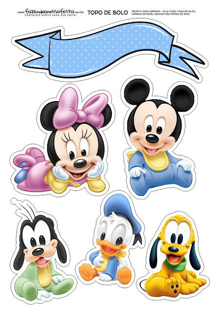 Disney Babies: Free Printable Cake Toppers.