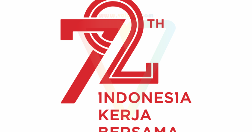 logo hut ri 72 kemerdekaan indonesia (tersier merah) | vector (cdr