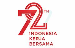 logo hut ri 72 kemerdekaan indonesia tersier merah
