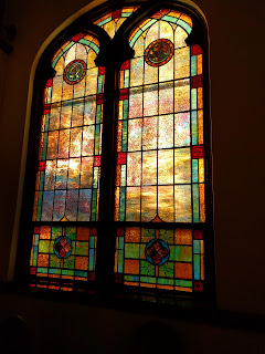stained glass window, st John's fort mill