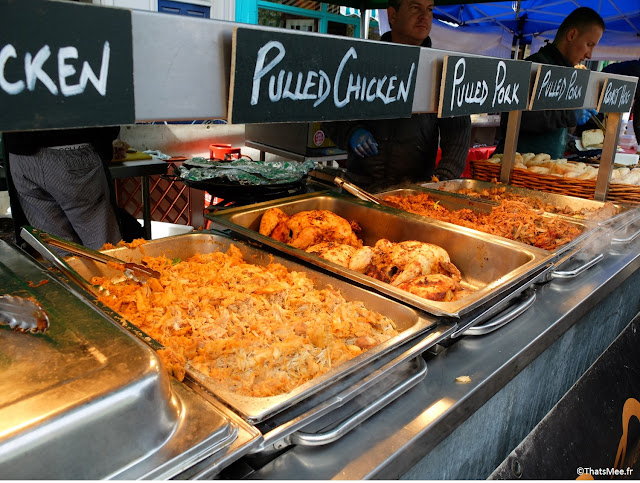 roast hog roasted pork chicken sandwich de poulet et porc roti Broadway market Hackney Dalston Londres