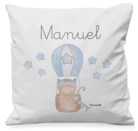 personalized cushion - cojín infantil personalizado