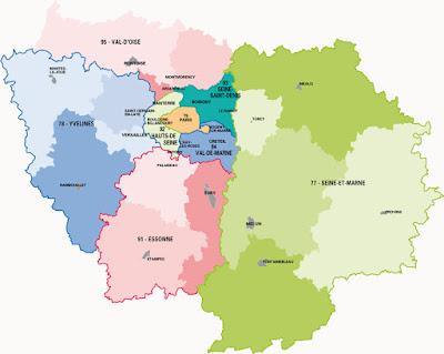 carte Ile-de-France
