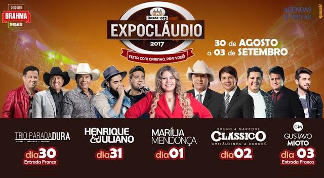 Resultado de imagem para AO VIVO - Expo Claudio 2018