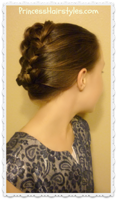 Quick and easy updo tutorial, french braid tuck