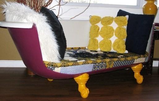 Aneka kreasi sofa unik dari barang bekas