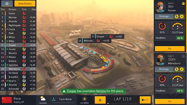 Tampilan Game Motorsport Manager Mobile 2 Android