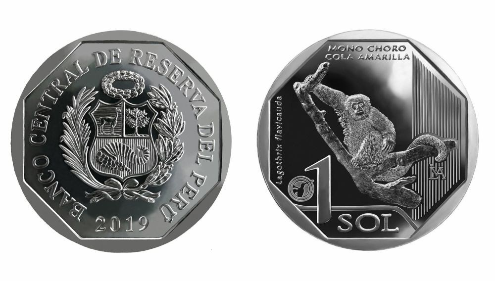 Moneda alusiva al Mono Choro
