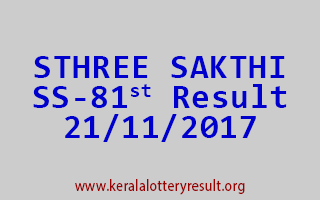 STHREE SAKTHI Lottery SS 81 Results 21-11-2017