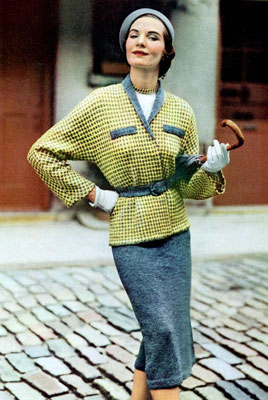 The Vintage Pattern Files : Free 1950's Knitting Pattern - The Vagabond Walking Suit