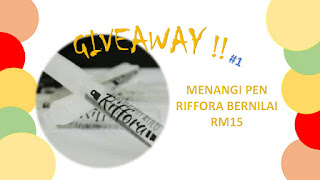 GIVEAWAY #1 BY AISYAH