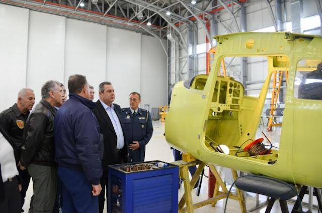 Επίσκεψη ΥΕΘΑ Πάνου Καμμένου στο Κρατικό Εργοστάσιο Αεροσκαφών