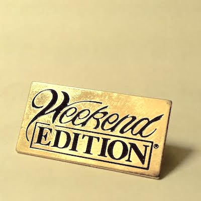 Orange Crate Art It S The Weekend Edition Lapel Pin