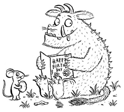 It's just an image of Punchy Gruffalo Coloring Pages