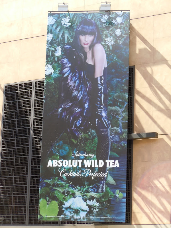 Absolut Wild Tea cocktail billboard