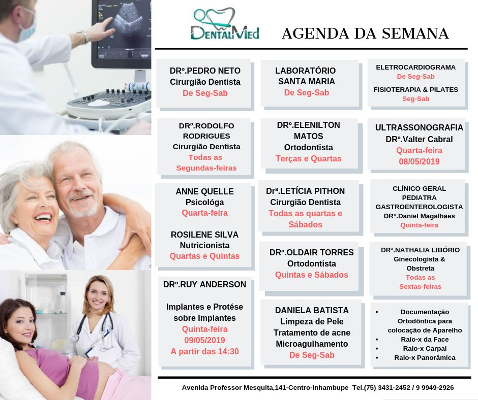 AGENDA SEMANAL DENTAL MED