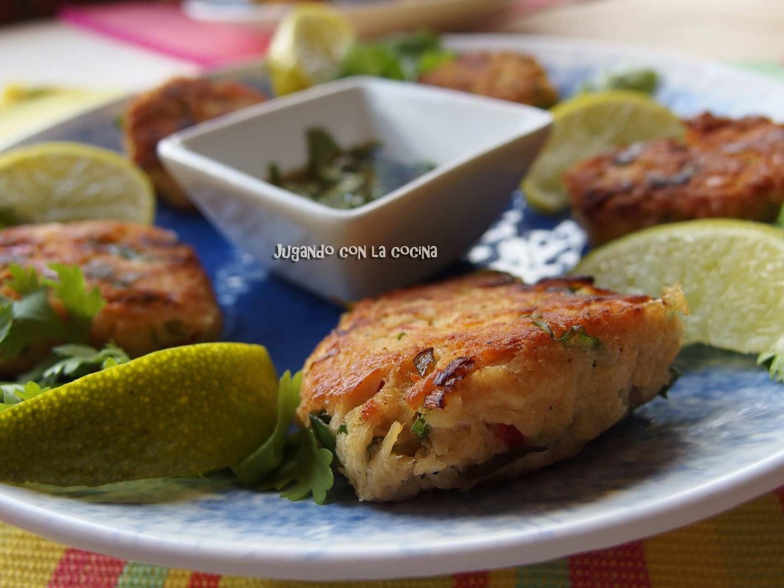 ... : Pastelitos burguer de atún con especias - Spicy tuna fish cakes