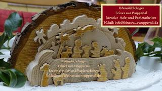 3d Holzkrippen Baumscheiben Als Deko Zu Weihnachten Vorlage Arnold