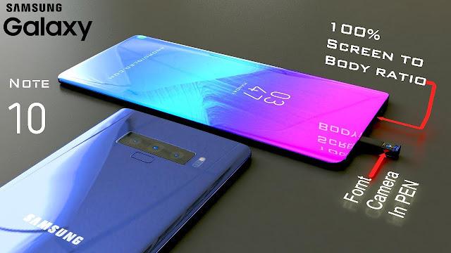 Wujud Galaxy Note 10 Dengan 4 Kamera Belakang Dan 2 Sensor Selfie