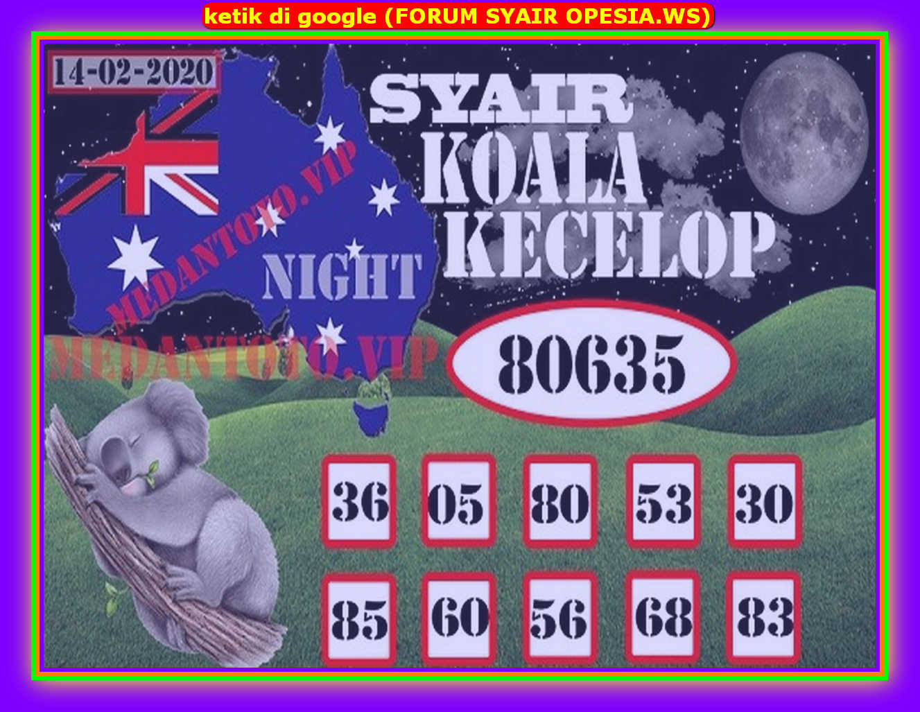 Kode syair Sydney Jumat 14 Februari 2020 73