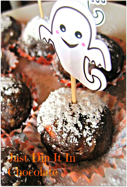 "Ghost Busters Halloween Brownies Recipe, Who are you going to call when it comes time to share these delicious and gooey brownie balls? Your friends and family are going to love them and would be ""singing"" for more! #halloween #halloweentrets #brownies"