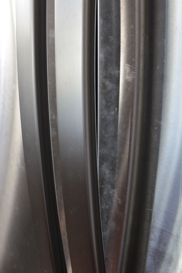 Remove fingerprint and smudges on dirty stainless refrigerator