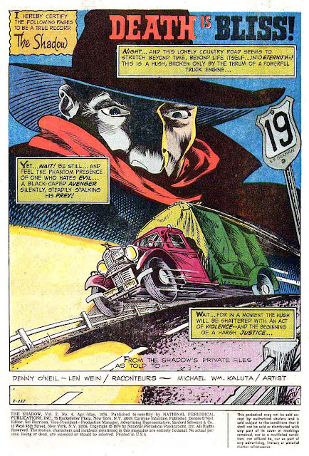 The Shadow v2 #4 - Bernie Wrightson dc 1970s bronze age comic book page art