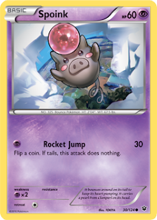 Spoink Fates Collide Pokemon Card
