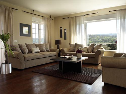 Salas color beige ideas para decorar dise ar y mejorar - Combinar colores para salon ...