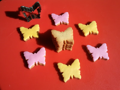 Galletas mariposas fondant