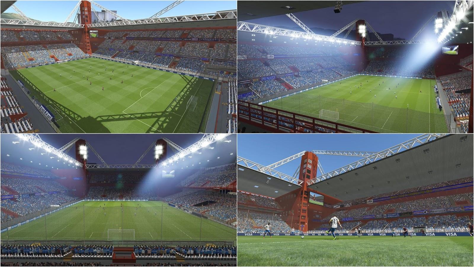 PES 2019 Stadio Luigi Ferraris (Genoa and Sampdoria's Home) by Ismail1795