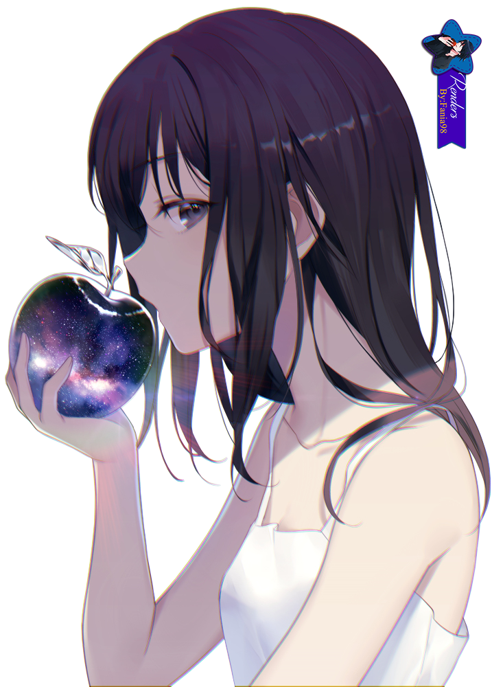 Girl Purple Apple- Render