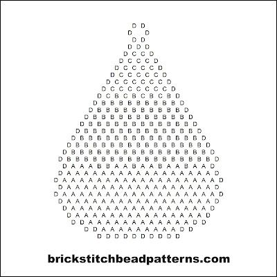 Click for a larger image of the Large Candy Corn Halloween bead pattern word chart.