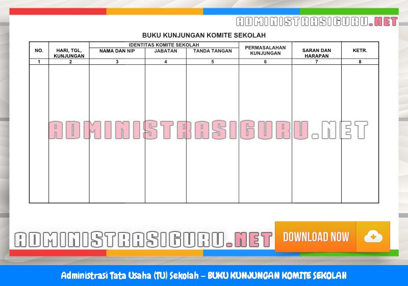 Contoh BUKU KUNJUNGAN KOMITE SEKOLAH Administrasi Tata Usaha Sekolah Terbaru Tahun 2015-2016.docx