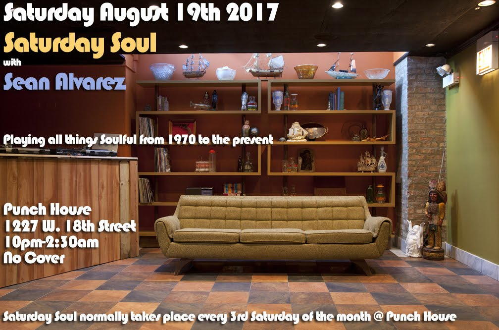 Sat 8/19: Saturday Soul @ Punch House