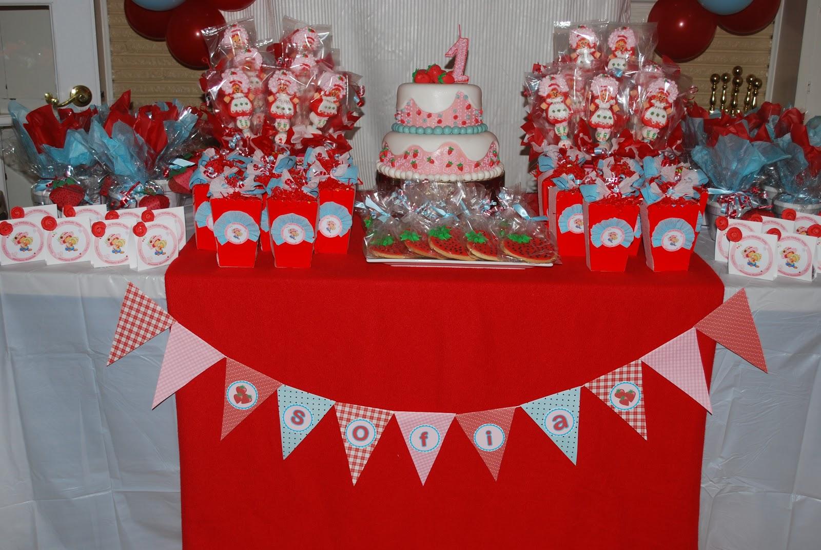 Strawberry Birthday Party Theme