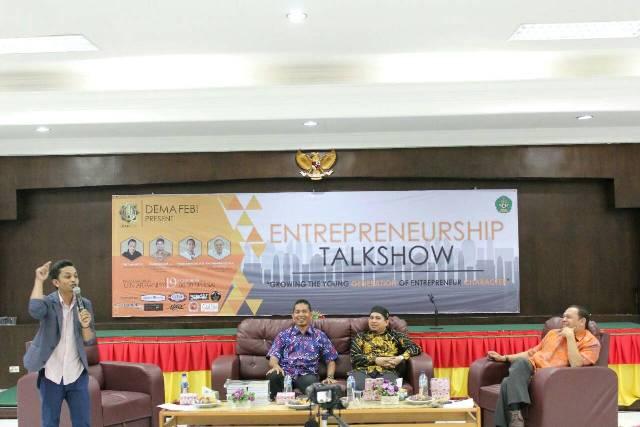 DEMA FEBI UIN Ar-Raniry Gelar Entrepreneurship Talkshow