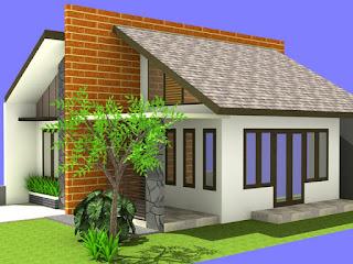 Desain Rumah Minimalis dengan Atap Miring